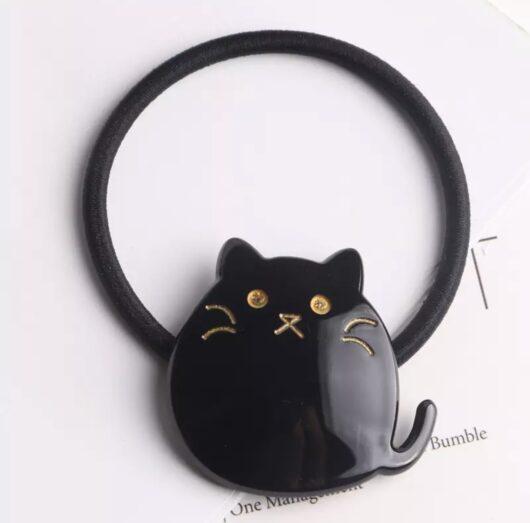 Cat Hair Tie Black