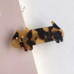 Kitty Cat Hair Slide - Brown