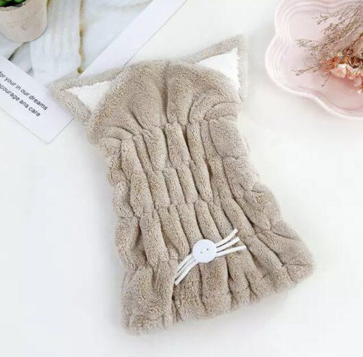 Cat Hair Towel - Brown