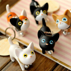 Cat Figurine Keychains