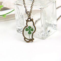 Cat Clover Necklace