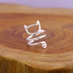 Cat Wraparound Ring